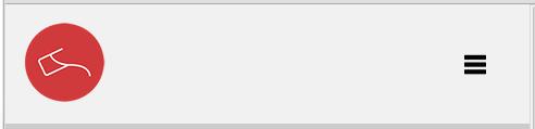 Non expanded mobile friendly menu button