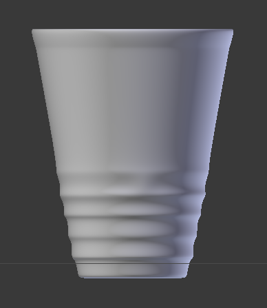 A 3D model of a glass made in Blender